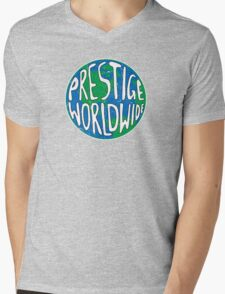 Vintage Prestige Worldwide Mens V-Neck T-Shirt