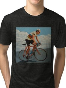 Eddy Merckx painting Tri-blend T-Shirt