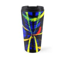 Psychodelic Tartan - Vertical version Travel Mug