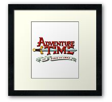 adventure time logo Framed Print