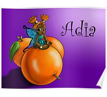 Orange Fairy Adia Poster