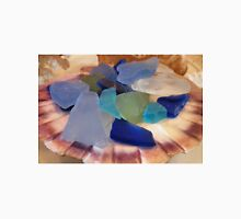 Sea Glass In A Scallop Shell Unisex T-Shirt
