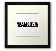 Team Olivia | Scandal Framed Print