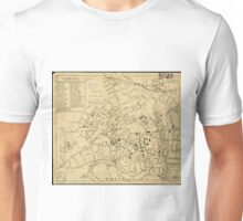 Vintage Map of Cambridge Massachusetts (1880)  Unisex T-Shirt