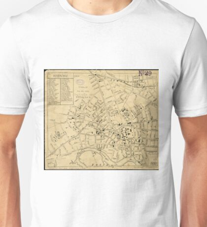 Vintage Map of Cambridge Massachusetts (1880)  Unisex T-Shirt