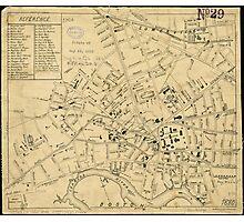 Vintage Map of Cambridge Massachusetts (1880)  Photographic Print