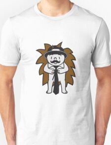 sir herr fliege hut gentlemen anzug winken baby kugel süßer kleiner niedlicher igel  Unisex T-Shirt