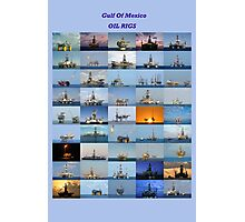 Oil rigs of the Gulf of Mexico Photographic Print