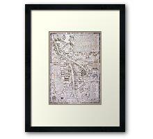 Vintage Map of Cambridge England (1574) Framed Print