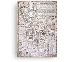 Vintage Map of Cambridge England (1574) Canvas Print