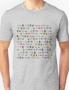 Hipster pixel pattern Unisex T-Shirt