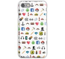 Hipster pixel pattern iPhone Case/Skin