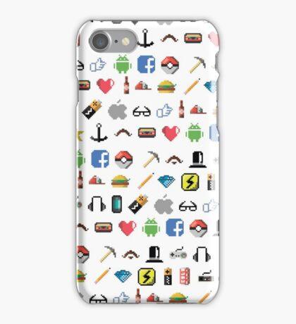 Hipster pixel pattern iPhone Case/Skin