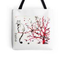 Sakura Neko Tote Bag