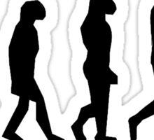 The evolution of man/ To Jamie Fraser Sticker