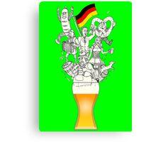 German Weizen Beer Foam Canvas Print