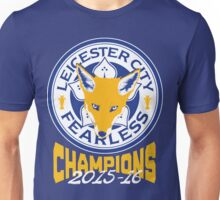 Leicester City FC PL Champions Badge 2015-16 Unisex T-Shirt
