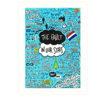 The Fault in Our Stars Collage Art Print