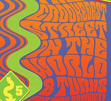 1960's Psychedelic San Francisco Crookedest Street by Groovy-Frisco