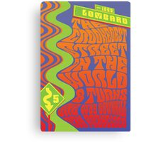 1960's Psychedelic San Francisco Crookedest Street Canvas Print