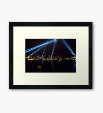Articulated Intersect, Dark MOFO Framed Print