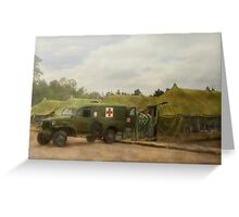 Doctor - 1942 - Camp Sibert - Transferring the patient Greeting Card