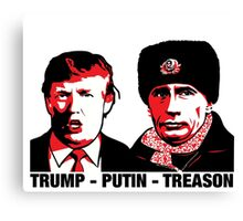 Trump Putin Treason Canvas Print