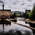 The Calder Through Sowerby Bridge Oil Painting Effect by Glen Allen
