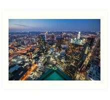 Bank of America Plaza Rooftop, Dallas Art Print