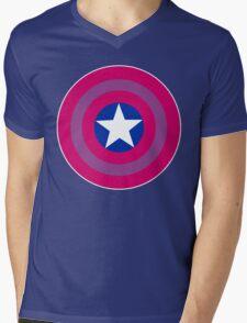 Bi Cap Mens V-Neck T-Shirt