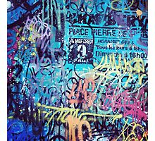 GRAFFITI WRITINGS Photographic Print