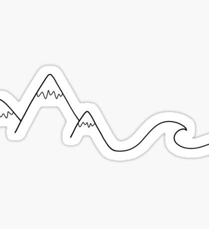Mountain Wave Sticker