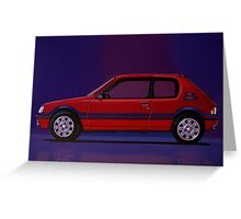 Peugeot 205 GTI Painting Greeting Card