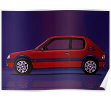 Peugeot 205 GTI Painting Poster