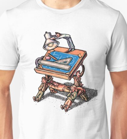 People Hold Up Drafting Board Unisex T-Shirt