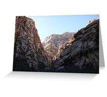 Icebox Canyon Ravine Greeting Card