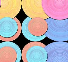 Colorful Stacked Disks by CarolM