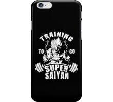 Training To Go Super Saiyan (Goku) iPhone Case/Skin