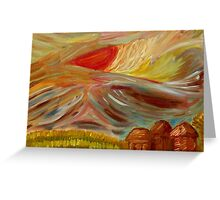 Abstract Impressionist Sky at Sunset Greeting Card
