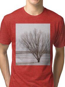 Winter Willow Scene Tri-blend T-Shirt