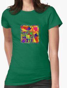 Abstract 0020 Womens Fitted T-Shirt
