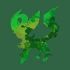 Leafy Leafeon by WithABlackTail