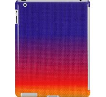 Natural Woven Ombre Shaded Tropical Sunset Colors Orange Red Royal Blue Burlap Sack Cloth iPad Case/Skin