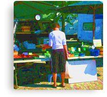 RainbowConfetti Farmers Market Shopper Canvas Print