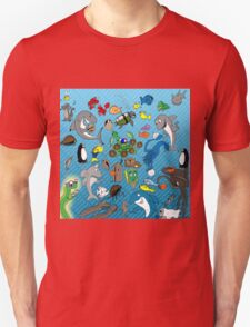 Out to Lunch Sea Animals Collection Unisex T-Shirt