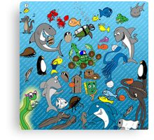 Out to Lunch Sea Animals Collection Canvas Print