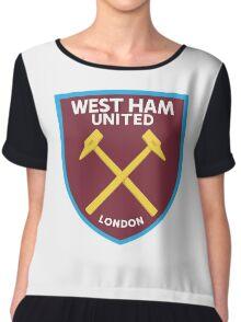 West Ham United Badge Chiffon Top