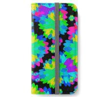 Multicolored Floral Print Geometric Modern Pattern iPhone Wallet/Case/Skin