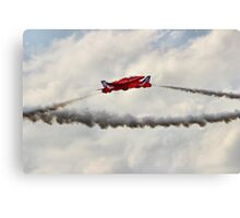 Red Arrows Synchro Pair - Farnborough 2014 Canvas Print