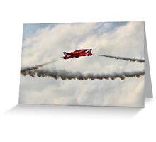 Red Arrows Synchro Pair - Farnborough 2014 Greeting Card